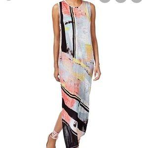 Rachel Roy Watercolor Asymmetrical Dress